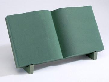 Open book florist foam tribute shape