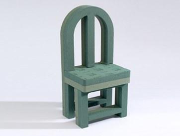 Vacant chair florist foam tribute shape