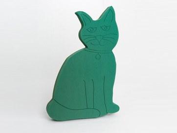 Cat pre cut florist foam tribute shape
