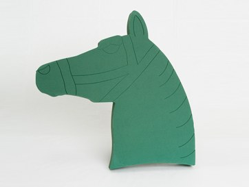 Horses head florist foam tribute shape