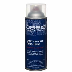 Deep blue oasis florist spray paint, 400ml