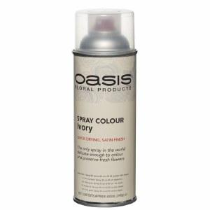 Ivory Oasis florist spray paint, 400ml