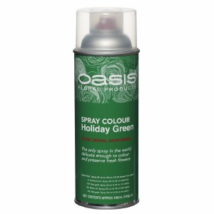 Holiday green Oasis spray paint