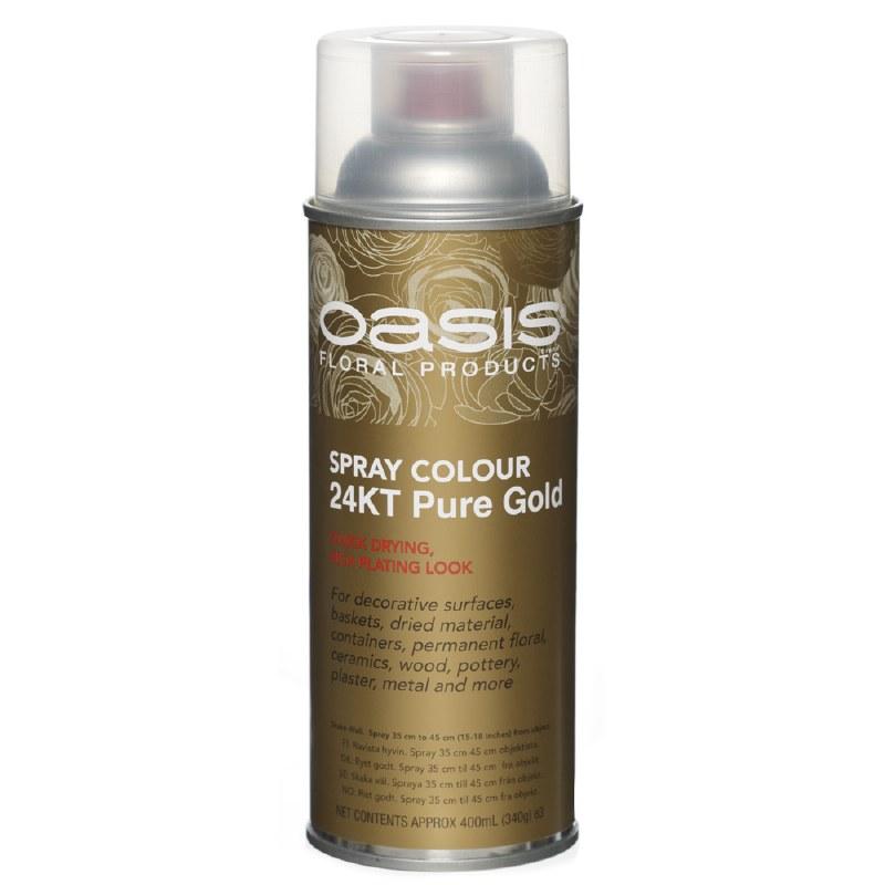Pure gold oasis florist spray paint, 400ml