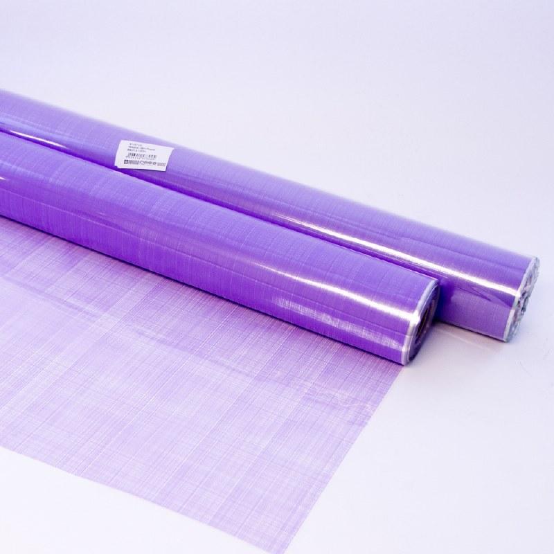 Purple florist hessian cellophane 100m