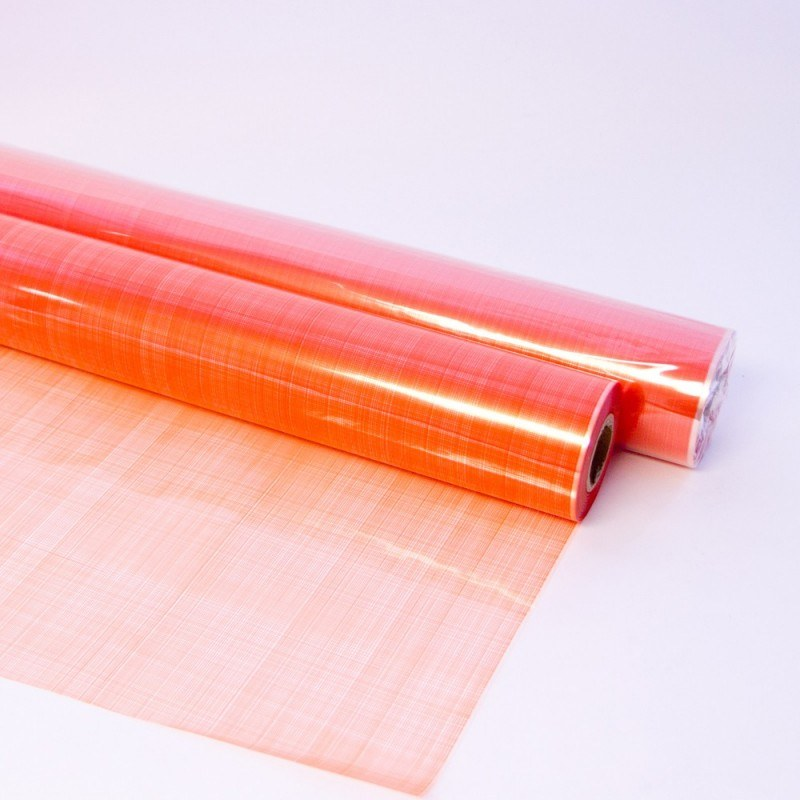 Florist Cellophanw Wrap Hessian Orange 80cm x 100m