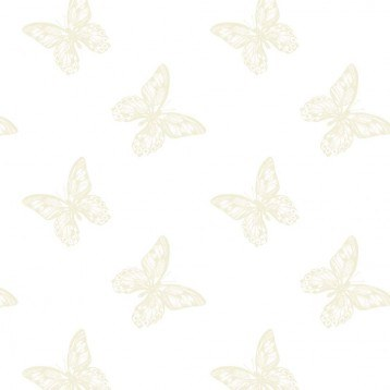 Cellophane Wrap Florist Butterfly- Ivory 80cm x 100m
