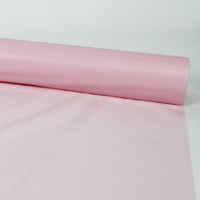 Florist Cellophane Wrap Frosted Pale Pink 80cm x 80m