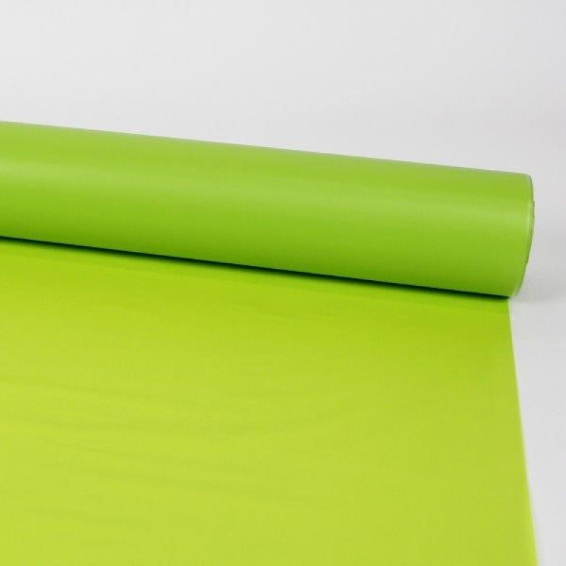 Florist Cellophane Wrap Frosted Lime Green 80cm x 80m