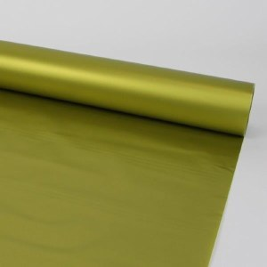 Florist Cellophane Wrap Frosted Gold 80cm x 60m