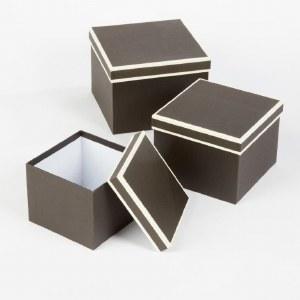 Florist Hat Boxes Black/ Cream x 3