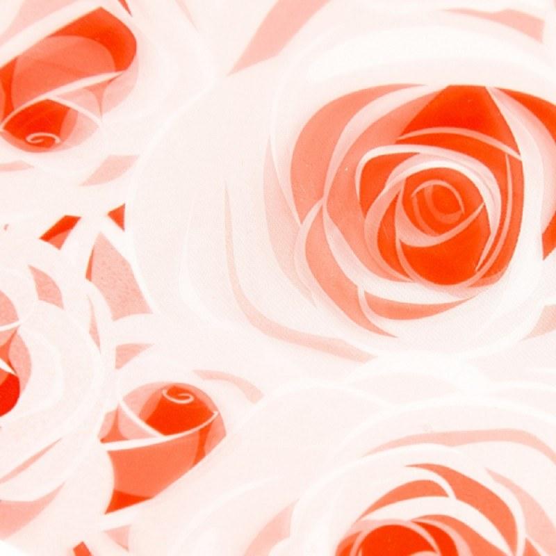 Florist Cellophane Wrap Roses Red 80cm x 100m
