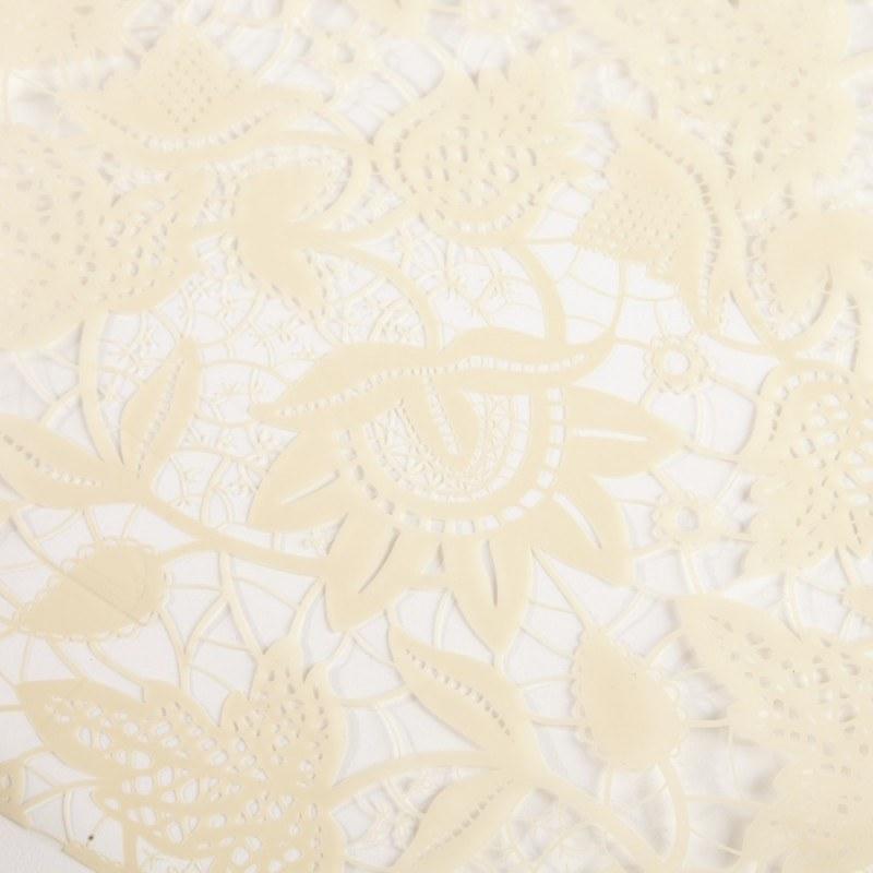 Florist Cellophane Wrap Lace Cream 80cm x 100m