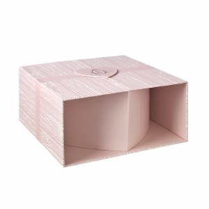 Heart Hat Box Pink/ Silver