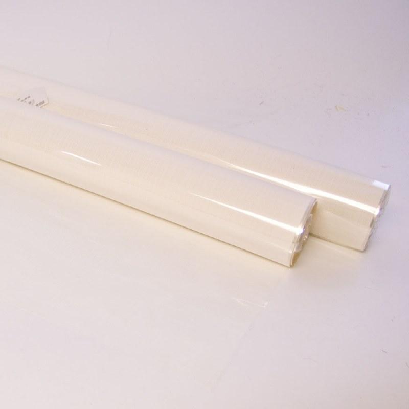 White cellophane hessian florist wrap