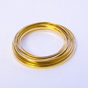 Light gold flat aluminium florist wire