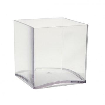 Acrylic Cube Vase 15cm