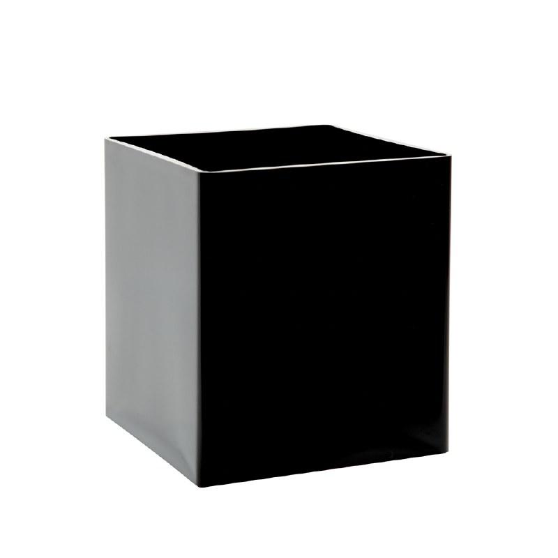 15cm black designer florist cube vase
