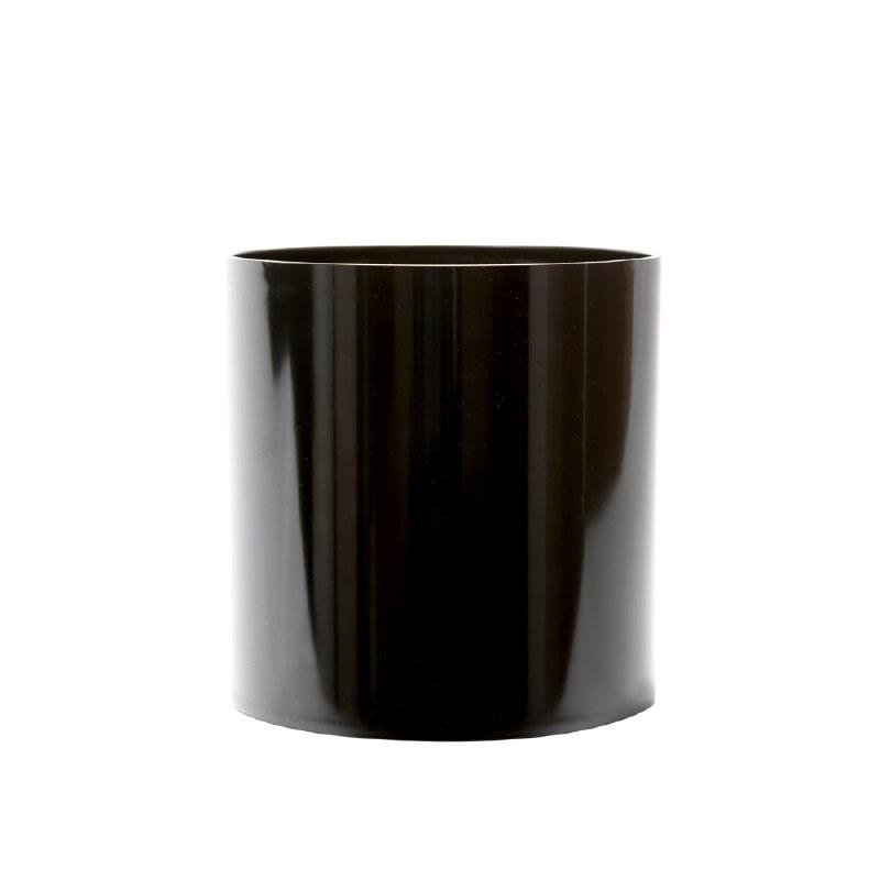 Designer cylinder acrylic black 15cm
