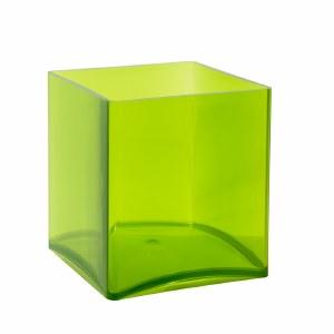 Designer cube acrylic apple green 15cm