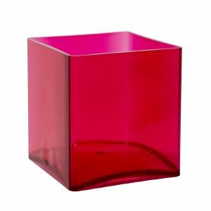 15cm cerise pink designer florist cube vase