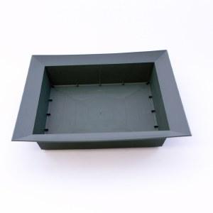 Large green square plastic florist designer bowl