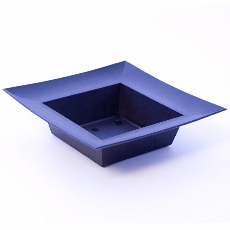 Square black plastic florist designer bowl