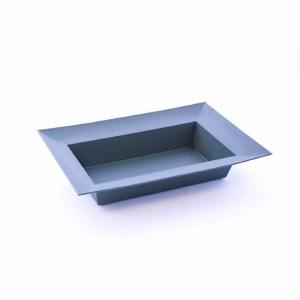 Rectangle dark green florist designer bowl