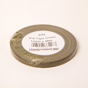 12mm green florist pot tape, 50m roll