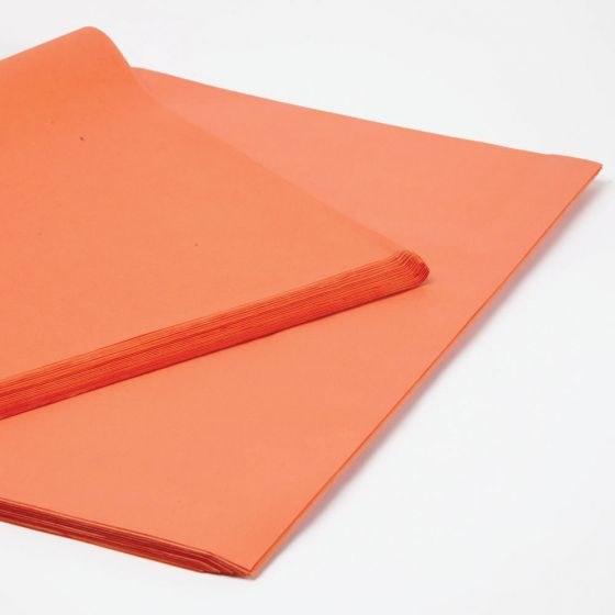 Orange tissue paper 50 x 75cm 240 sheets