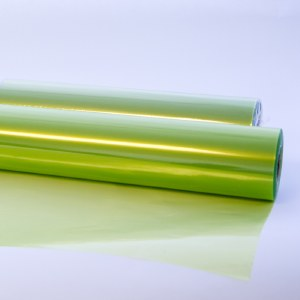 Lime tinted cellophane wrap 80cm x 100m