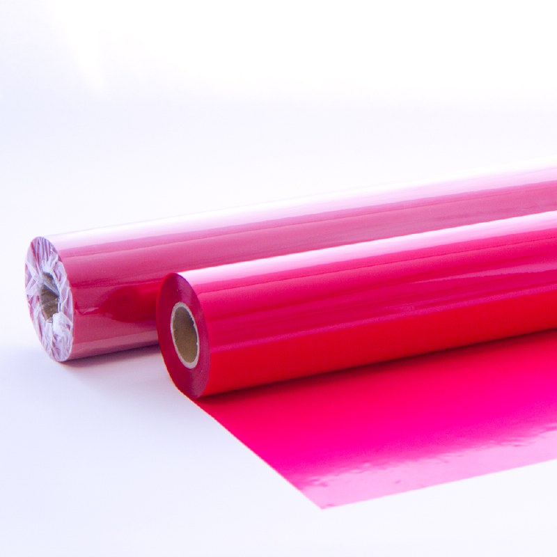 Red tinted cellophane wrap
