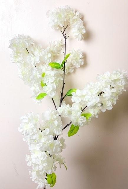 Artificial Ivory Cherry Blossom 120cm