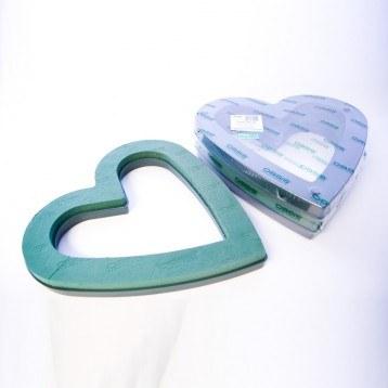2 x Open heart naylorbase florist foam shape 17in
