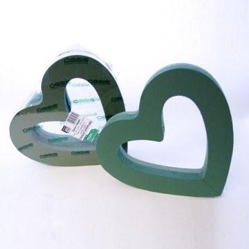 """Open heart florist foam shape 15"""""""