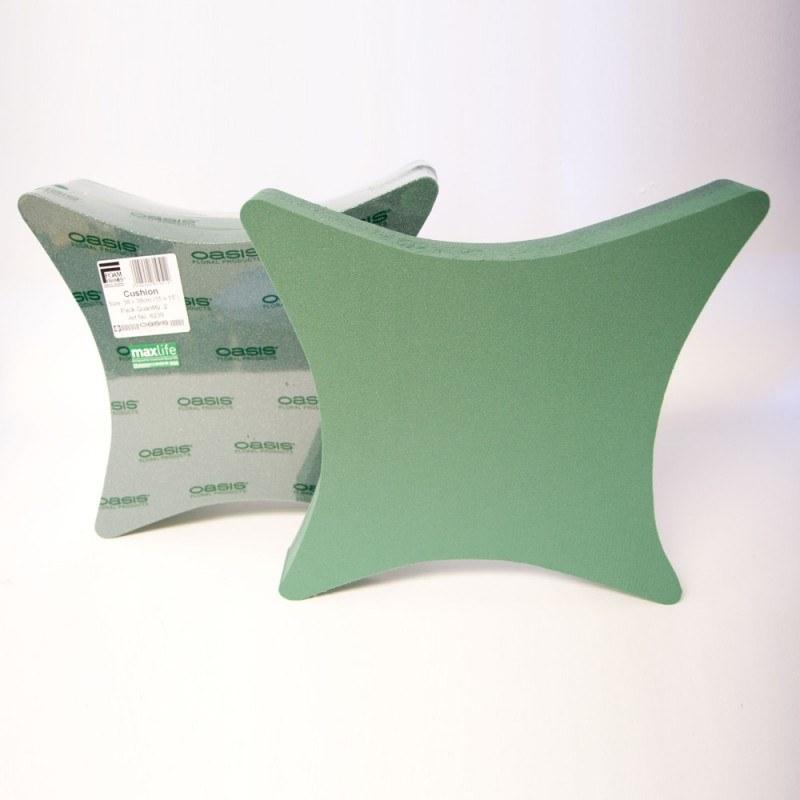2 x 15 inch ideal florist foam cushion tribute shape