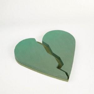 """Oasis Floral Foam Broken Heart Shape 18"""""""