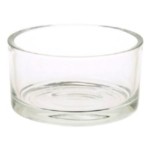 Glass Vase Round Bowl 29cm x 8cm