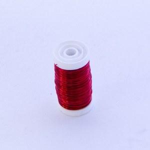 Metallic red florist wire