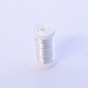 Metallic Florist wire Silver 0.50mm x 100g