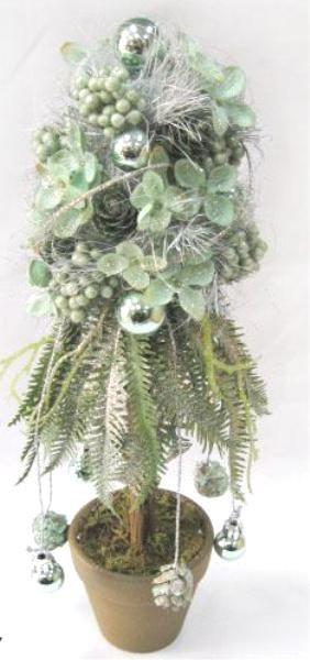 Mint Christmas tree in pot