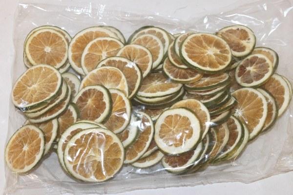 250g dried orange slices green