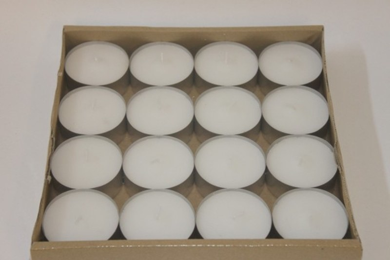 16 x large tea light candles- 58mm