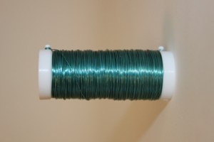 Turqouise coloured decorative wire 50grams