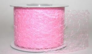 Pale pink mesh ribbon 5cm x 20m