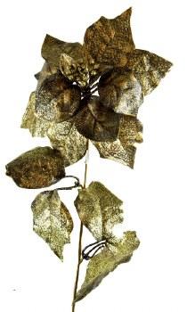 Gold poinsettia 70cm
