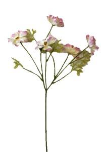 Pink/cream artificial cherry blossom stem, height-63cm