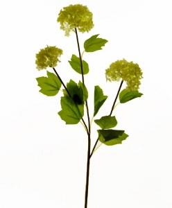 """Artificial Snowball Flower Stem 28.5"""""""