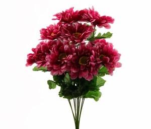 Zinnia Artificial Flower Bunch Pink x 10stems