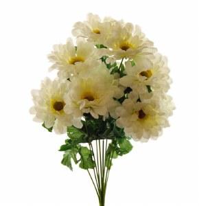 Zinnia Artificial Flower Bunch x 10 Cream